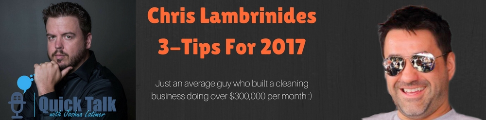 Chris Lambrinides is what I call a -High Achiever- and he has many unique attributes that contribute to his success